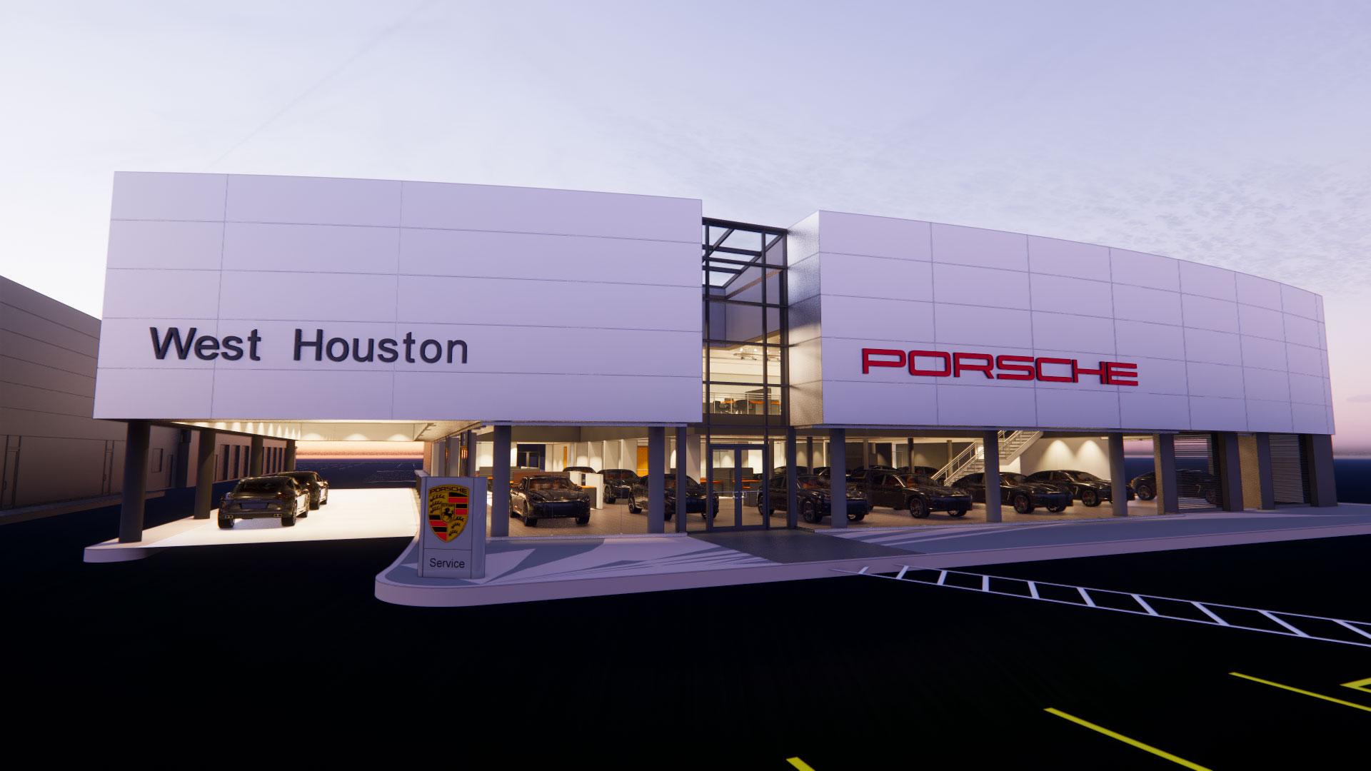 Porsche dealership underway