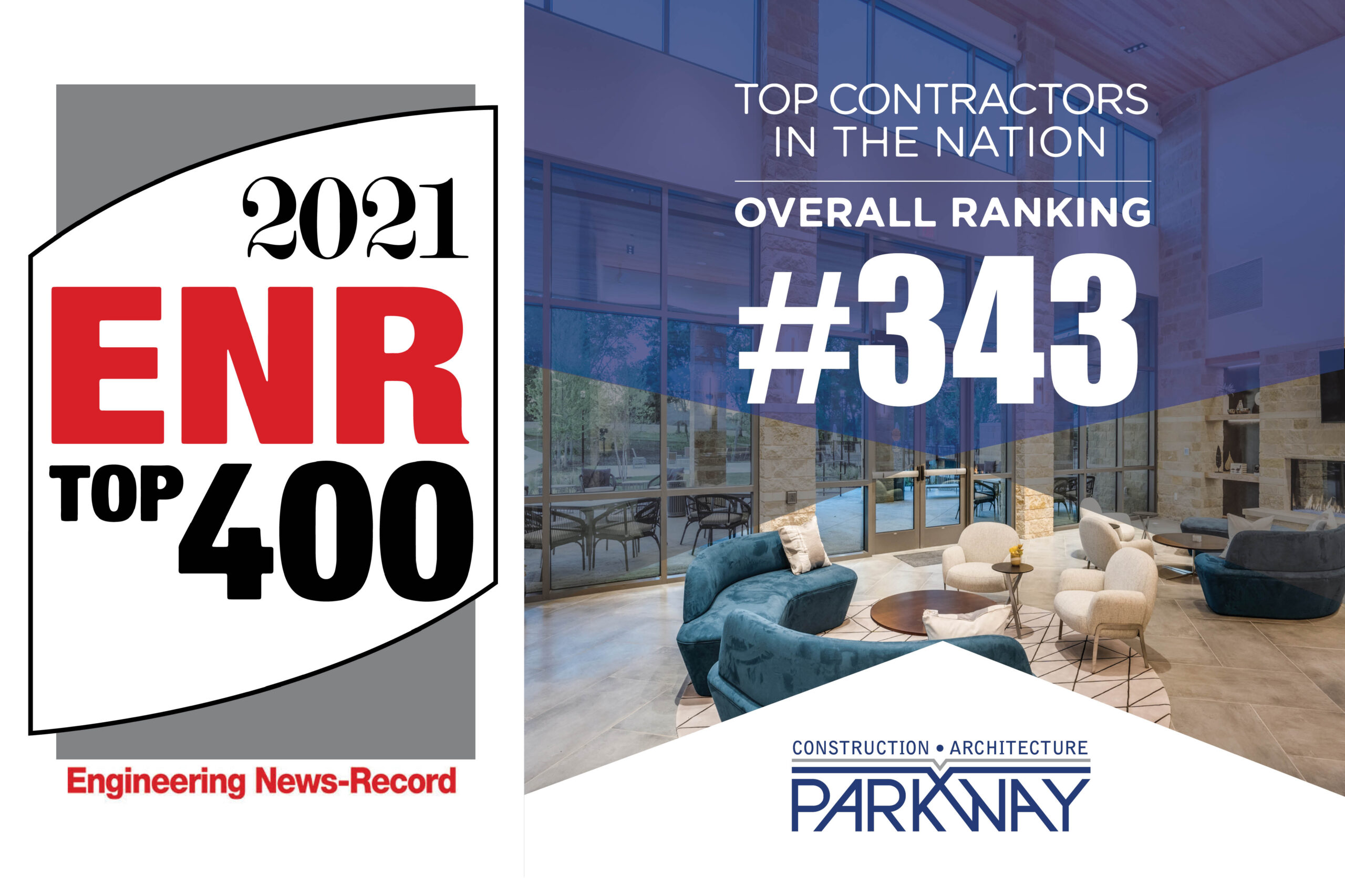 Parkway C&A, LP Named Top Contractor in ENR Top 400 List